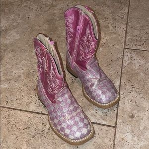 Little girls Roper cowboy boots with original box